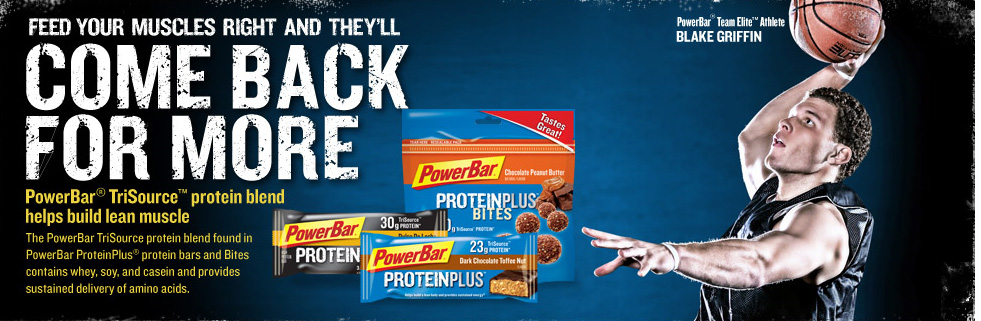 PowerBar ad with Blake Griffin dunking