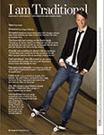 Tony Hawk in Traditional Home magazine